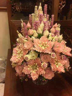 Floral Garland, Flower Garlands, Flower Decorations, Lace Candles, Flora Design, Flower Ornaments, Clay Flowers, Garden Crafts, Artificial Flowers