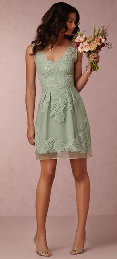 Gorgeous! i just love this celery color! #bridesmaiddress