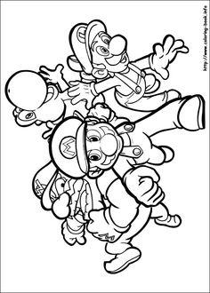 mario and luigi coloring pages | bratz coloring pages | coloring ... - Super Mario Luigi Coloring Pages