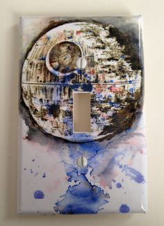 The Death Star Star Wars Art Room Decor Decorative Light Switch Cover Plate by idillard