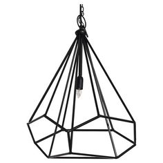 Showcasing an openwork design, this eye-catching chandelier casts a warm glow in your living room or den.   Product: Chandelier...