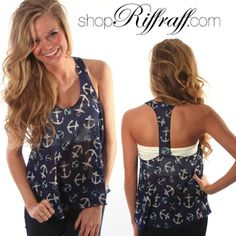 anchors away tank – navy