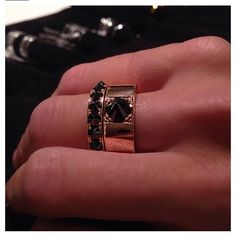 Fighter Rings in Rose Gold with Black Diamonds.