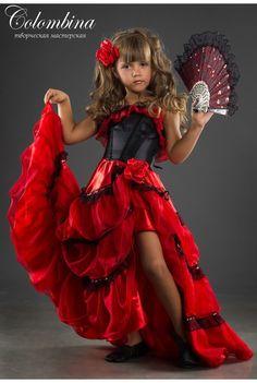 Carnaval costume Espagnole jeune fille espagnole par ArtColombina Fancy Costumes, Carnival Costumes, Halloween Costumes For Girls, Costume Halloween, Kid Costumes, Children Costumes, Halloween Halloween, Vintage Halloween, Halloween Makeup