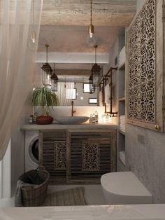 Adoravelmente artístico, não? Fonte: Home Designing Romântico e moderno.