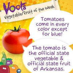 Fun facts about #tomatoes, the Voots Vegetable of the Week