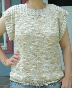 ABC Knitting Patterns - Katia Summer Top