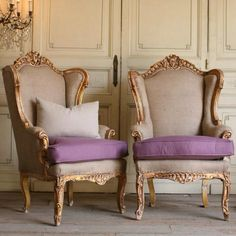 Vintage Italian chairs..Would love to have two of the chairs - minus the purple..eek!