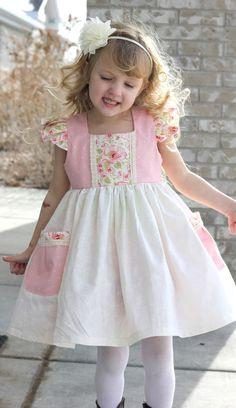 Toddler Dress Pink Babys 1st Birthday Dress by BestDressEver