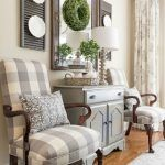 Farmhouse Dining Room Makeover - Martha Washington style chairs recovered with gray and white buffalo check fabric Dining Room Decor French Country Living Room, French Country Decorating, Country French, French Country Wall Decor, Country Bedrooms, Southern Living, My New Room, Decorating Your Home, Decorating Ideas