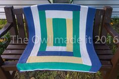 Baby blanket knitted baby blanket baby boy blanket by TheOwlmadeit