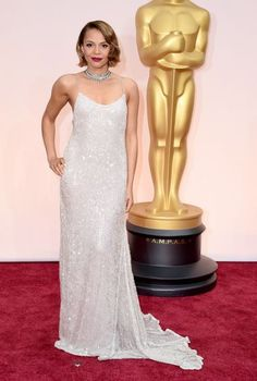 #oscarfashion Carmen Ejogo arrives at the 87th Academy Awards on February 22, 2015 in Hollywood.