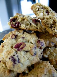 White Chocolate Cranberry Oatmeal Cookies. These are amazing and perfect for fall!