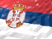 Flag of Serbia Wallpaper Illustration