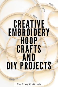 creative embroidery hoop crafts and diy projects Embroidery Hoop Crafts, Creative Embroidery, Crafts To Make, Fun Crafts, Diy Spring Wreath, Diy Craft Projects, Craft Ideas, Decor Ideas, Decorating Ideas