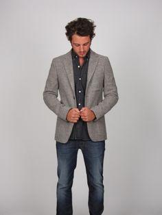 button up under blazer