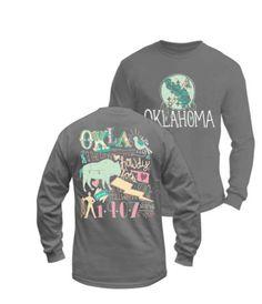 Long Sleeve Oklahoma Pastel Colors
