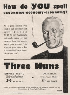 Three Nuns Pipe Tobacco, 1947