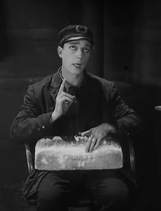 """Oh! I wish I had someone to love me.""  Buster Keaton sings in ""Steamboat Bill, Jr,"" (1928)."