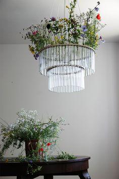 test tube chandelier.