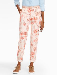 The Weekend Chino - Floral Tile