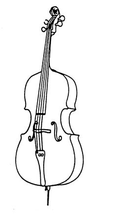 cello instrument drawing sketch coloring page