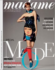 visual optimism; fashion editorials, shows, campaigns & more!: double jeu: karlie kloss by jean-baptiste mondino for madame figaro 28th febr...