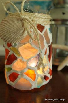 sea glass mason jar-009