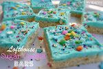 Lofthouse Cookie Bars -- Just about the easiest cookies to make.  You just mix up the batter, pour and spread it in a cookie sheet pan and bake.  Once cooled, frost the whole thing and then cut it into squares for serving.