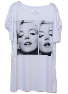 Tamanho Único Selfie Marilyn #moda #marilyn #diva #movie #fashion #womenfashion