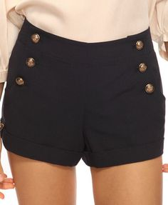 Sailor shorts paired with navy polka dot tights {J.Crew} + TB revas for a cute summer to fall outfit!