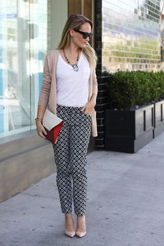 Printed pants for work and play