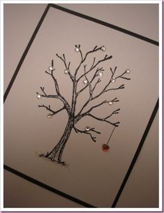 It's All Fiddle Fart: Bare Tree with Heart Christmas Card