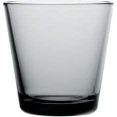 Kartio Glass, 21 cl grey, cost CHF 9.50 each at Sibler