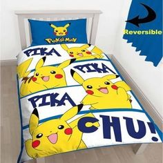 Pokémon Pikachu Reversible Single Duvet Cover Set England