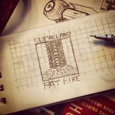 Fatbike logo sketch