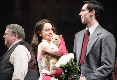 Emilia Clarke cuddled a cat after her Broadway performance last night in NYC | Pictures