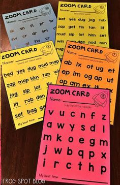 Frog Spot: Phonics and Fluency - Zoom Cards Phonics Reading, Teaching Phonics, Phonics Activities, Kindergarten Literacy, Teaching Reading, Reading Intervention Classroom, Guided Reading Groups, Teaching Ideas, Classroom Activities