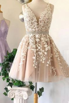 white sleeveless applique homecoming dressv-nck beaded tulle lace school event dress Sweet Baby Online Store Powered by Storenvy Cheap Short Prom Dresses, Hoco Dresses, Tulle Prom Dress, Event Dresses, Tulle Lace, Wedding Dresses, Lace Wedding, Sexy Dresses, Summer Dresses