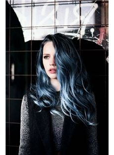 Hair idea. Ombre from black to blue to silver.