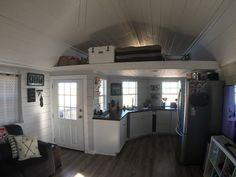 560 Sq Ft Home For Sale On The Tiny House Marketplace This Custom Built Home Features 560 14x40 Shed To Tiny House Custom Built Homes Tiny House Living Room