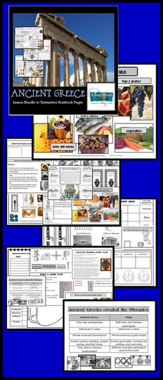 Ancient Greece bundle is full of interactive notes, foldables, vocabulary, art activities and projects along with a quiz.
