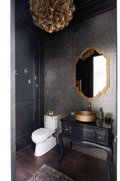 A New Build gets an Elegant and Colorful Style Upgrade Bathroom Mirror Makeover, Bathroom Sink Decor, Boho Bathroom, Bathroom Layout, Modern Bathroom Design, Bathroom Interior Design, Bathroom Ideas, Ada Bathroom, Bathroom Plants