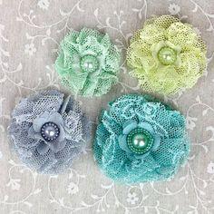 Beautiful ❤ chic lace flowers