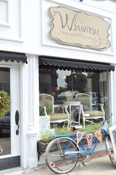 Store Front: love the bicycle bunting