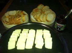 Second course! Evil beer cheese, bread and jam