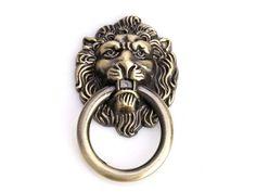 European Antique Furniture Cabinet Drawer Handles Pulls Bronze Lion Head Rings