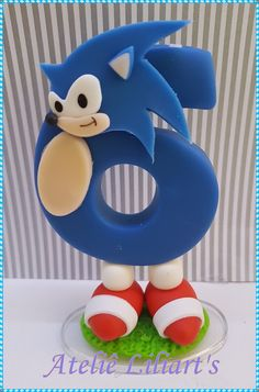 Sonic the Hedgehog Sonic Birthday Cake, Sonic Cake, Sonic Birthday Parties, Sonic Party, Kids Party Themes, Birthday Party Decorations, Hedgehog Birthday, Reindeer Craft, Fondant Cake Toppers