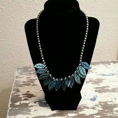 Hematite Leaf Necklace