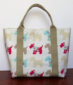 Handmade womens shopper or knitting bag. The by HectorsHouseCraft, £20.00